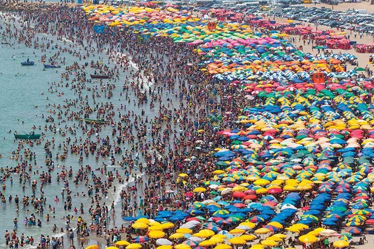 Packed beach iStock-478330034
