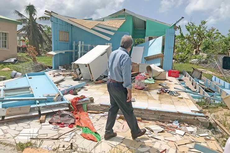 Hurricane Irma devastation in Barbuda. Photo Credit: Press Association