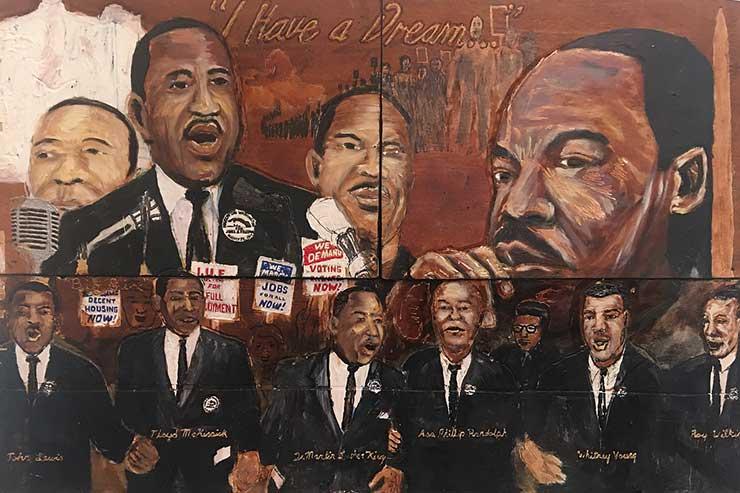 Civil rights mural, Georgia