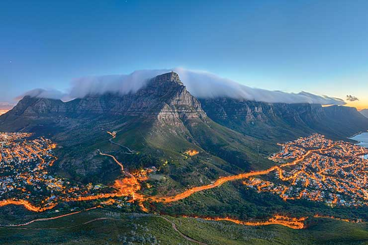 Table Mountain in Cape Town, the location of the Environmental Declaration of 2002