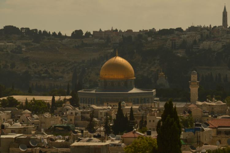 Palestine view of Dome of the Rock in Jerusalem