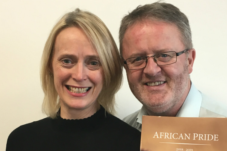 Liz Hall and David Holland African Pride
