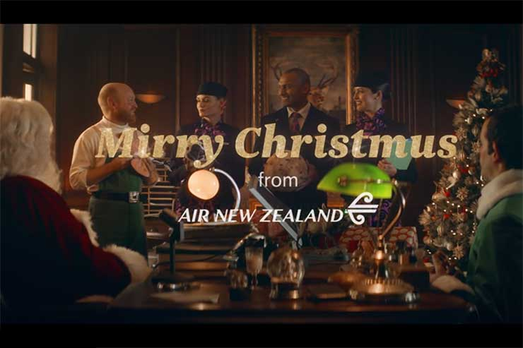 Air NZ says 'Mirry Christmus'