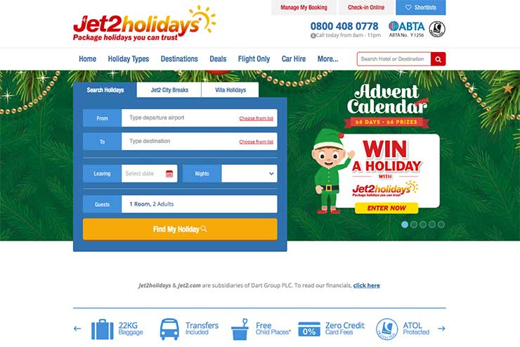 Jet2holidays site December 6