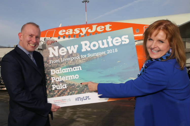 EasyJet launches three new routes from Liverpool