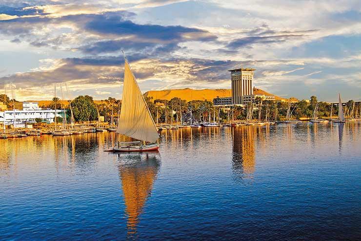 Sail boats on the Nile, Egypt
