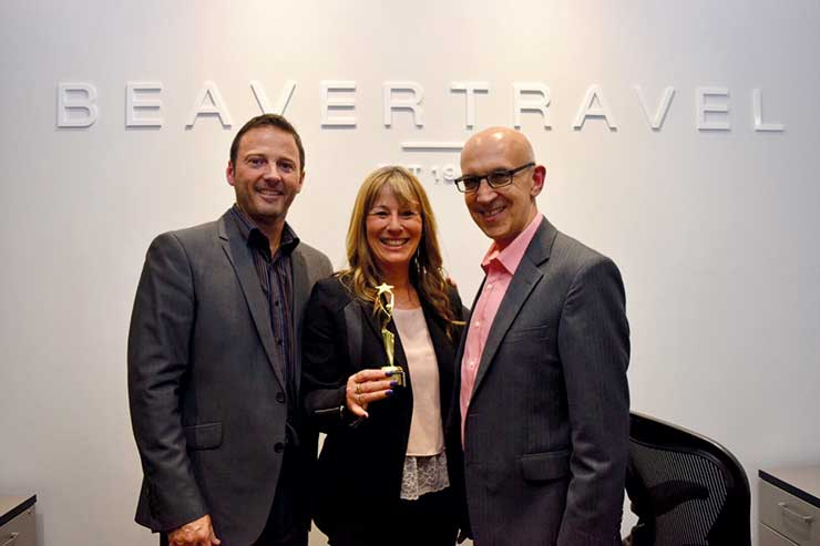 Beaver travel business directors Andrew Devine (left), Sally Wallis and Gary Green
