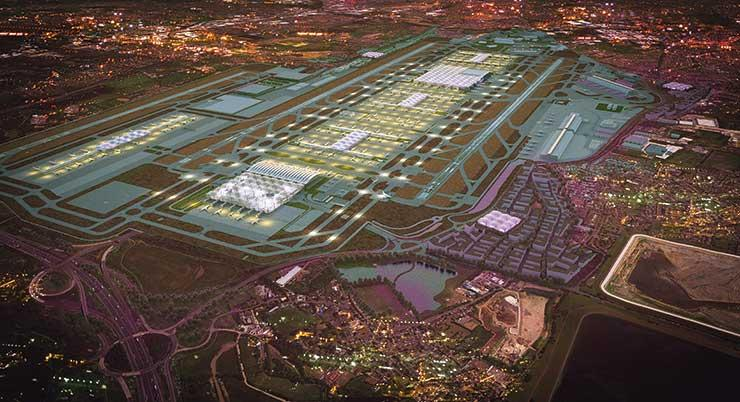 Heathrow expansion artists rendition