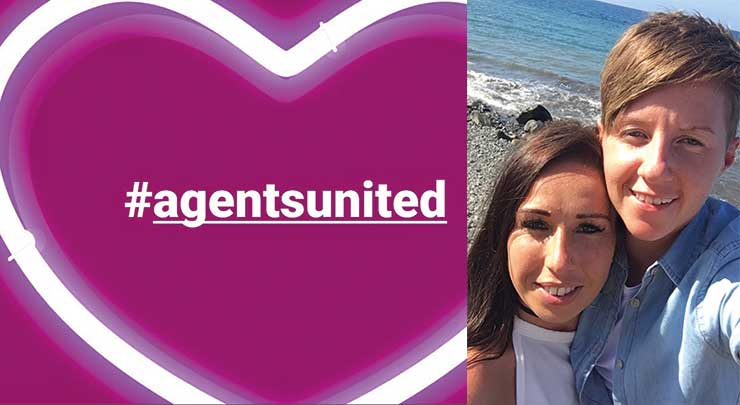 #agentsunited after death of Cassie Hayes
