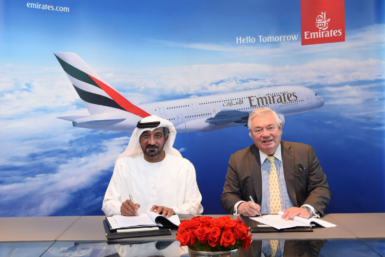 Emirates A380 signing