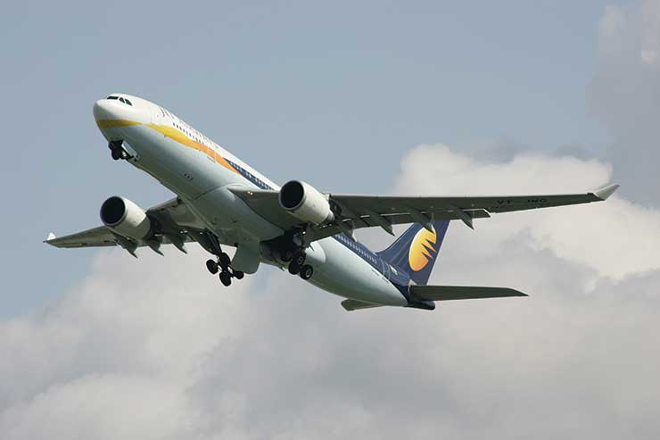 Jet Airways A330 taking off