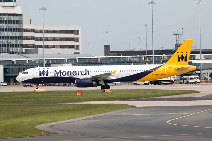 Monarch jet at terminal