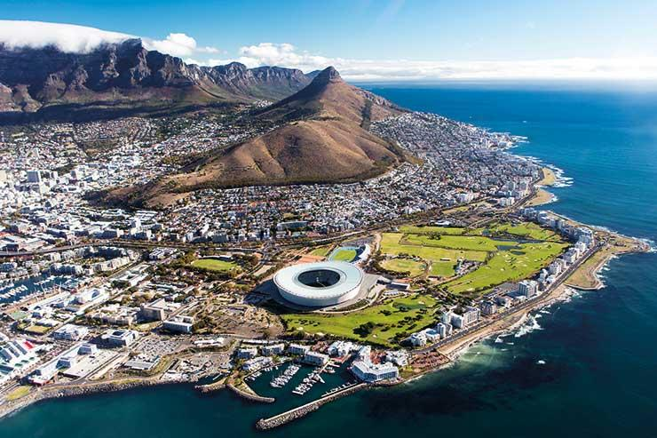 Cape Town, South Africa aerial shot