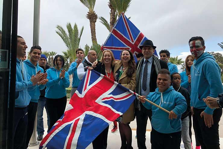 Tunisian hoteliers greet British holidaymakers upon arrival in Hammamet