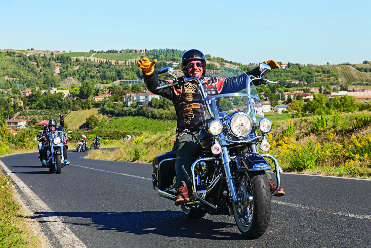 Happy Driver Riding Harley Dav Affordable Car Hire smaller.jpg
