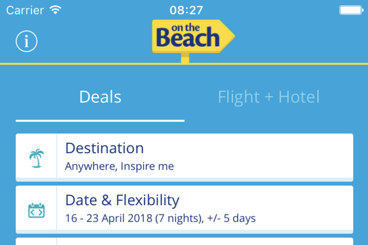 On the Beach holiday booking app hits one million downloads