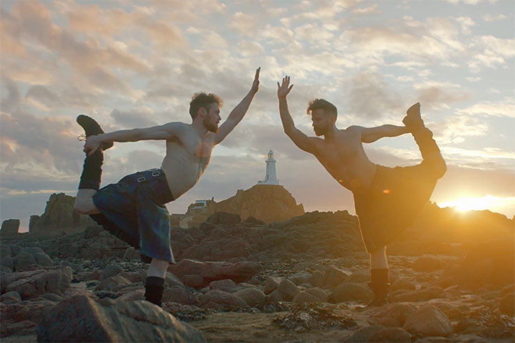 EasyJet enlists help of Kilted Yoga to launch Edinburgh-Jersey route