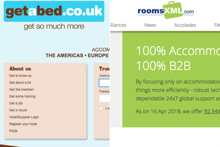 Bed banks getabed and roomsXML announce merger