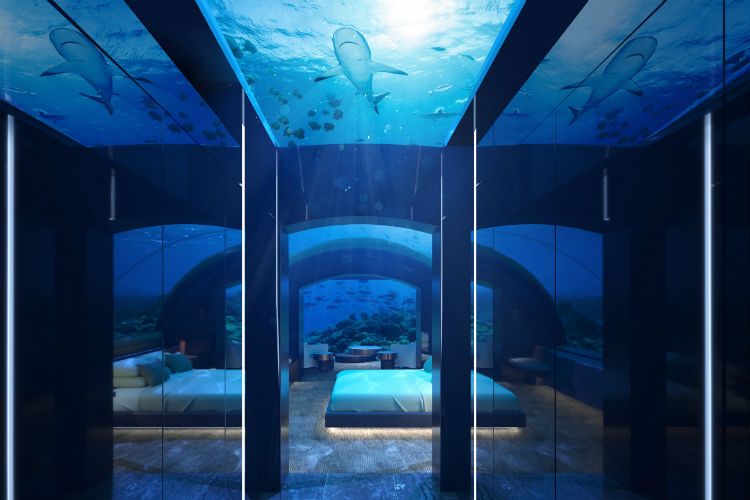 Could you sleep underwater? Conrad to open world's first underwater suite in the Maldives