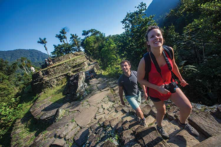 Colombia Lost City Trek Travellers at Sunrise
