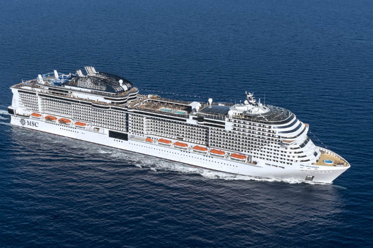 MSC Grandiosa departed Genoa on 16 August on a seven-day western Med cruise