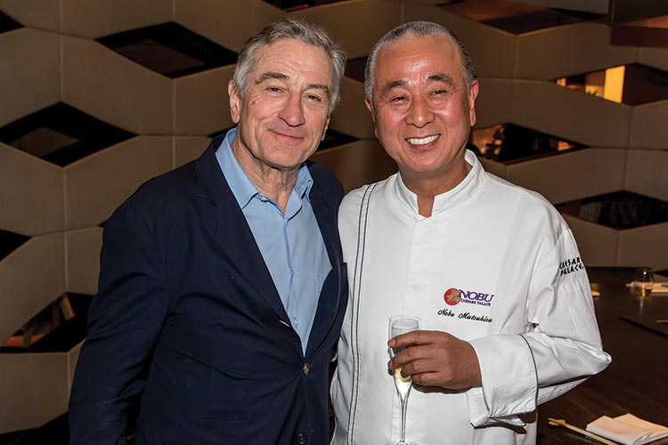 Nobu Matsuhisa and Robert de Niro