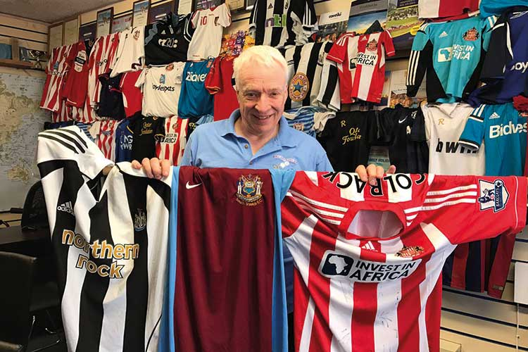 Westoe Travel boss to deliver dozens of football shirts to Kenyan youth