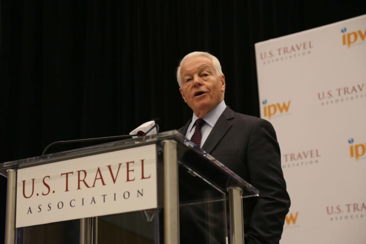 US Travel Association's Roger Dow called for a testing regime to replace US border closures