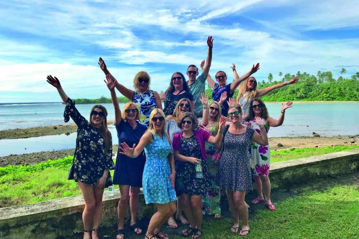 Agents on Cook Islands fam trip