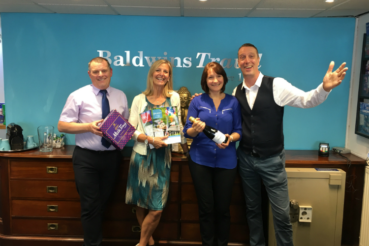 Baldwins Travel celebrates £50,000 'top 10' Funway Holidays booking