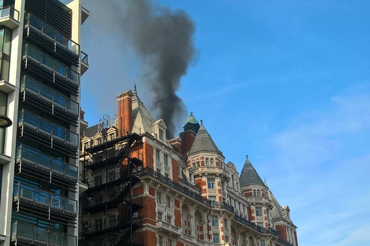Mandarin Oriental fire: 'No injuries' after flames ravage newly-refurbished hotel