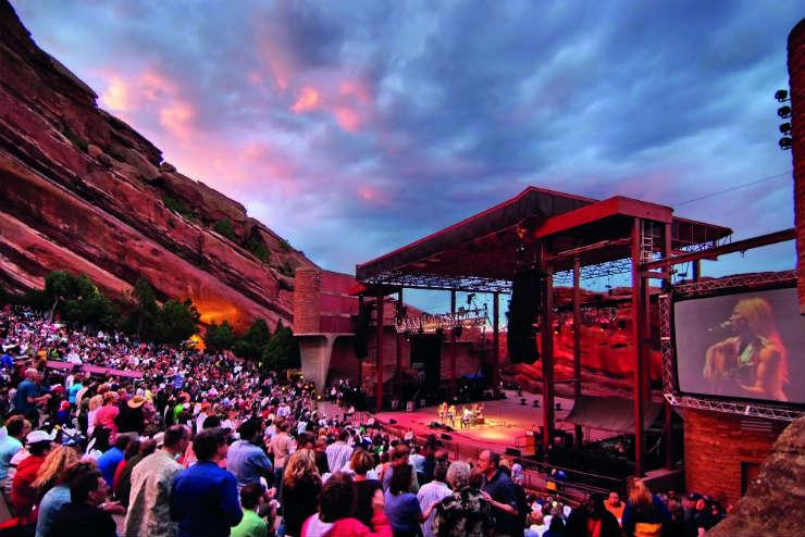Red Rocks Amphitheatre, by Stevie Crecelius