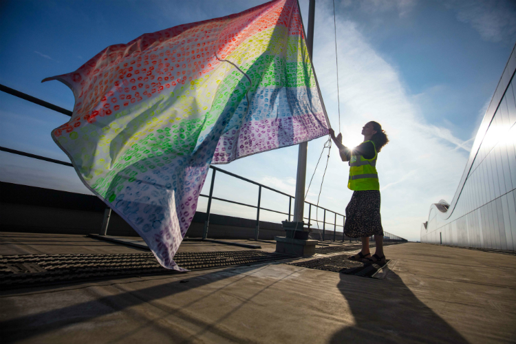 See Heathrow airport fly flag for Pride London