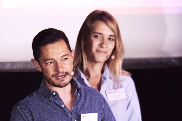 Transgender couple's story captivates LGBT delegates