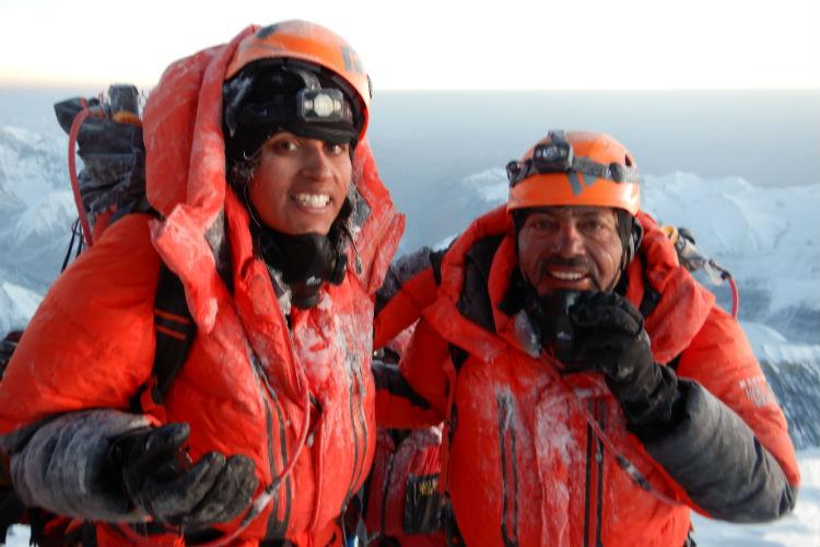Deeya and Ajeet Bajaj reach Everest summit