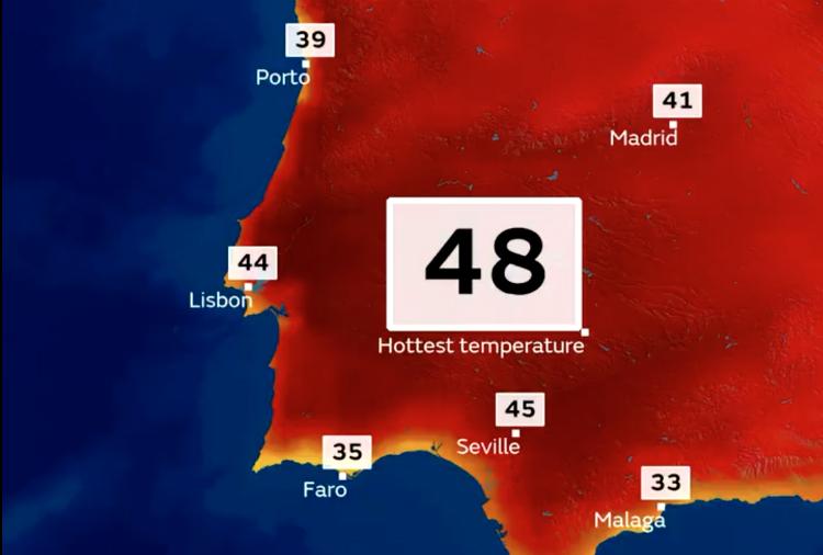 Brits warned as Spain braces for record breaking 44C+ heatwave