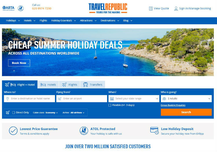 Travel Republic will offer Covid protection