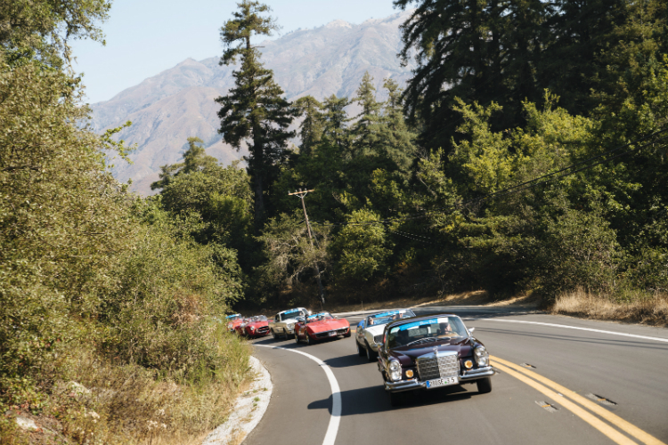 Historic Highway 1 reopens with classic car convoy