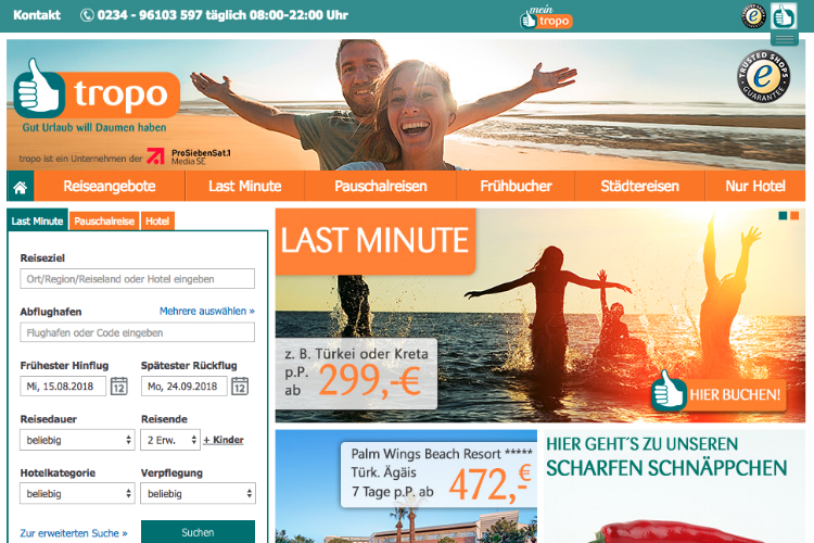 Gold Medal Travel 2 parent acquires German tour operator Tropo