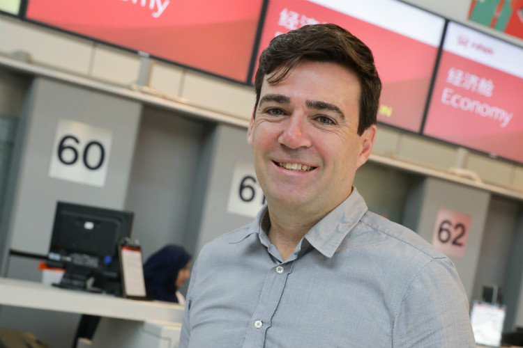 """Manchester mayor Andy Burnham said he would """"continue to speak up"""" for the travel industry"""