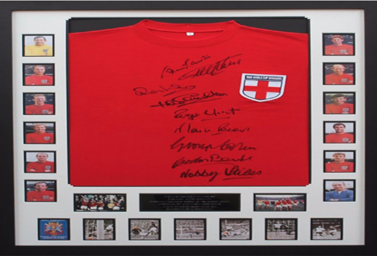 1966 England team signed shirt