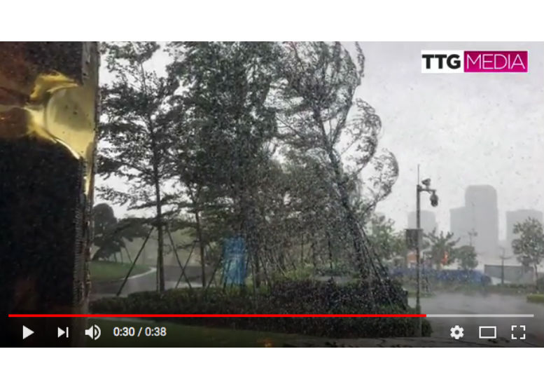 ��Typhoon Mangkhut -  in the midst of the storm