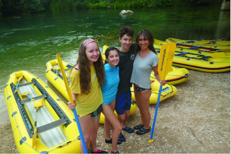 Jo Kessel with her children in Croatia