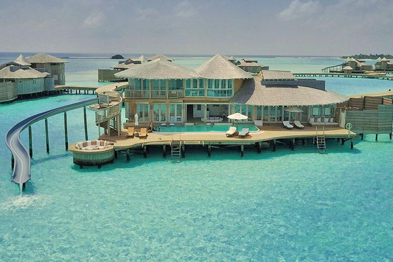 The aquatic playground, the Maldives