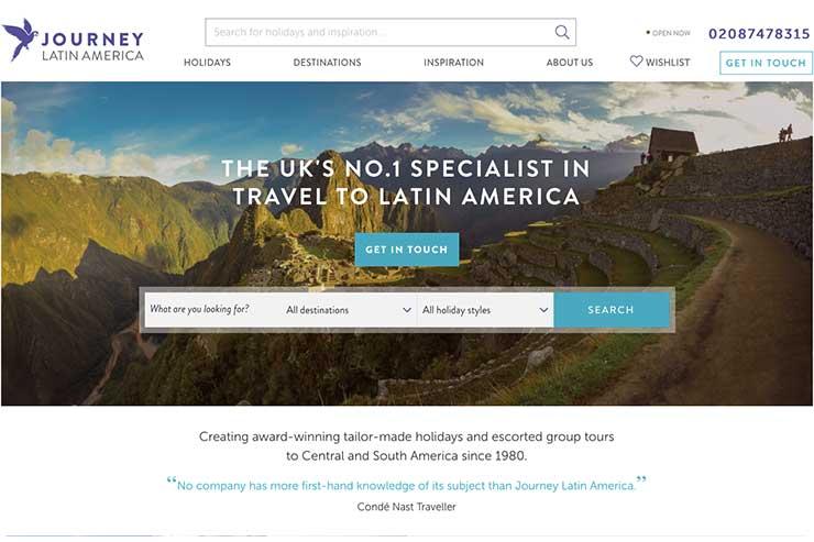 Journey Latin America website November 2018