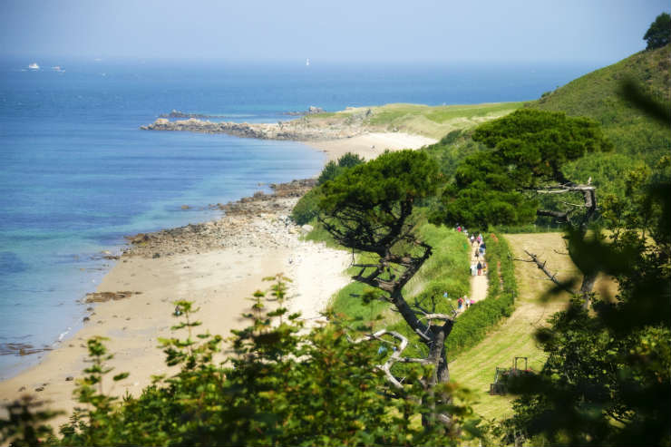 Beach hopping in gorgeous Guernsey