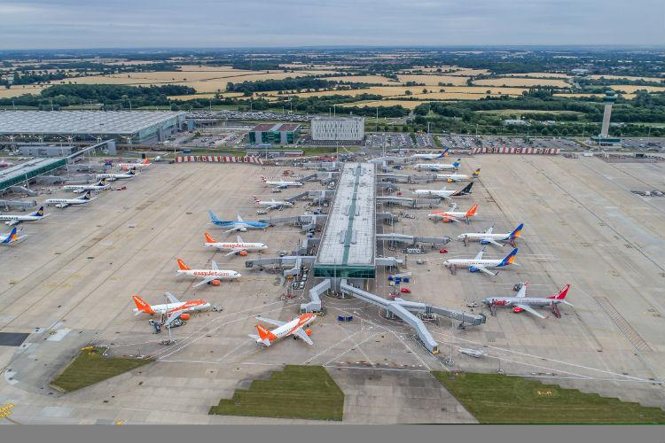 See transformed Stansted in drone footage