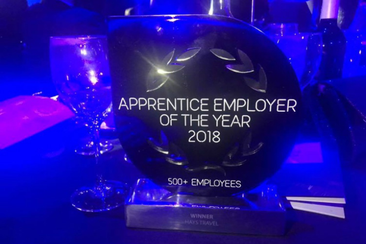 Hays Travel crowned apprentice employer of the year