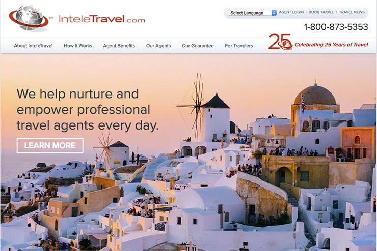 Inteletravel homepage Dec 2018