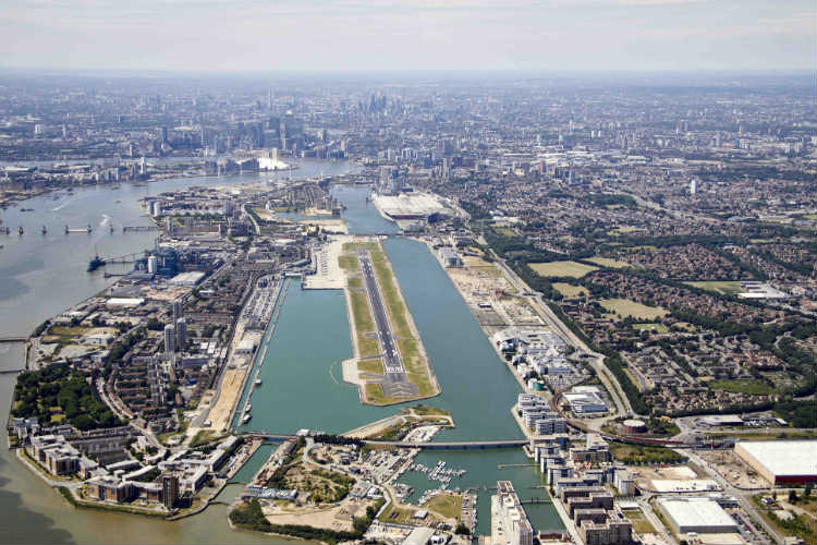 London City airport continues operations amid climate protest